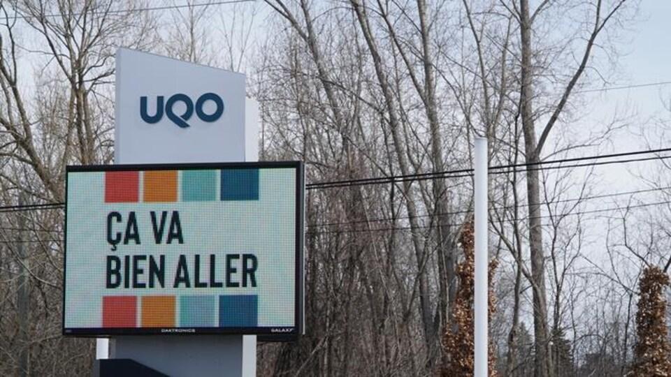 Une affiche de l'UQO ça va bien aller.