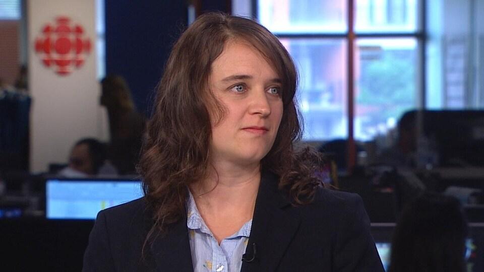 Ursule Boyer-Villemaire, en entrevue à la télévision.