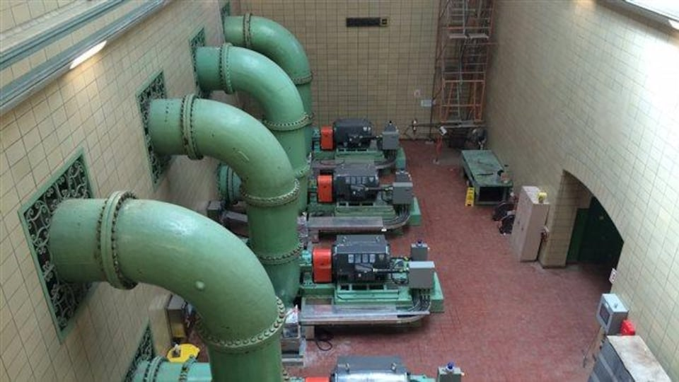 Canalisations de l'usine Atwater