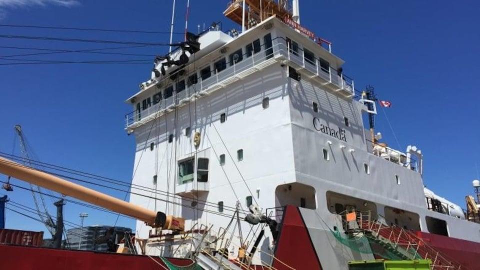 Un bateau de la Garde côtière.
