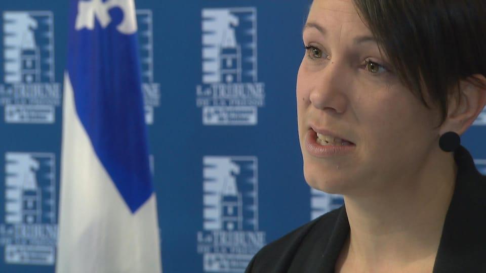 Valérie Grenon, en entrevue à Radio-Canada.