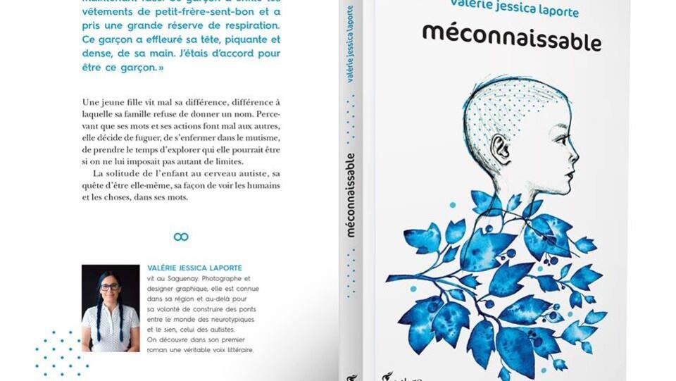 Montage présentant la couverrture et la quatrième de couverture du livre <em>méconnaissable</em>