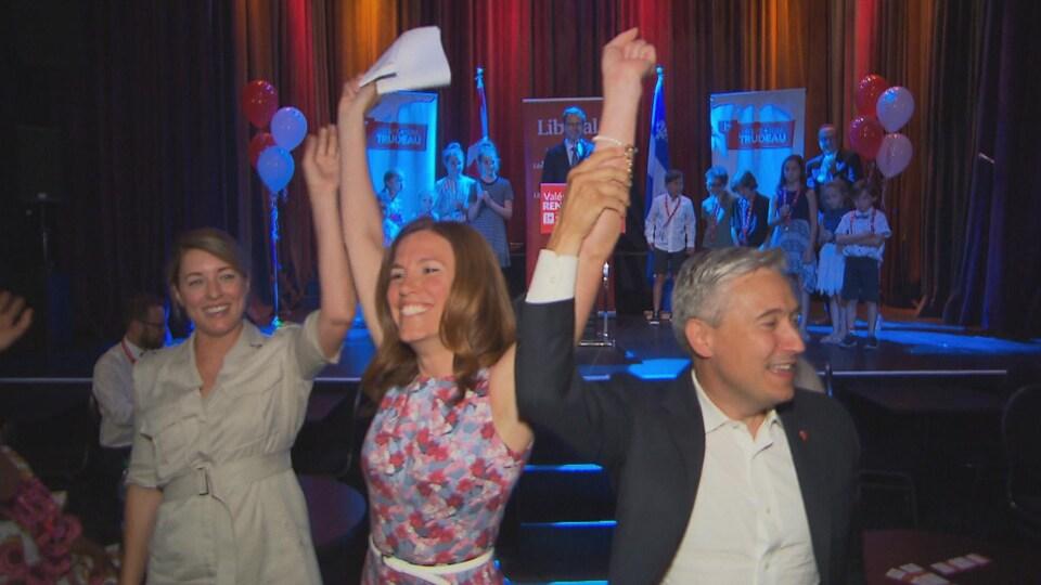 Mélanie Joly, Valérie Renaud-Martin et François-Philippe Champagne