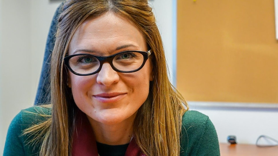 La psychiatre Valérie Trottier-Hébert du CIUSSS de la Capitale-Nationale lors d'une entrevue
