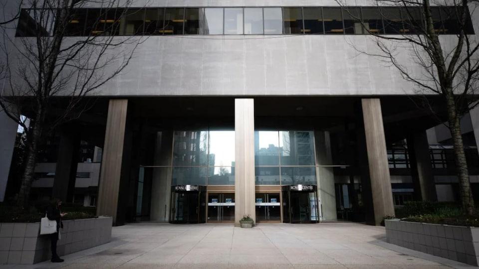 Façade du bureau de l'ICBC au Royal Centre, dans le centre-ville de Vancouver.