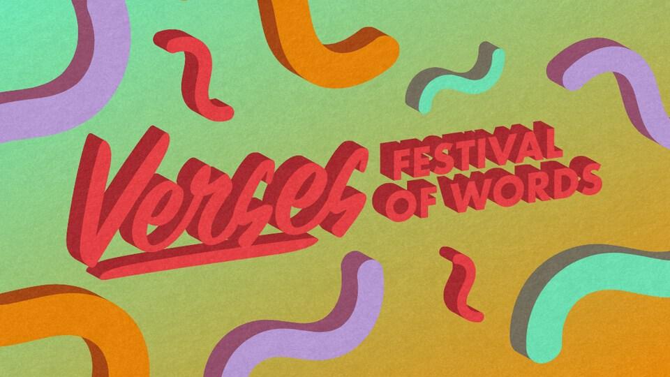 l'affiche du Verses Festival of words.