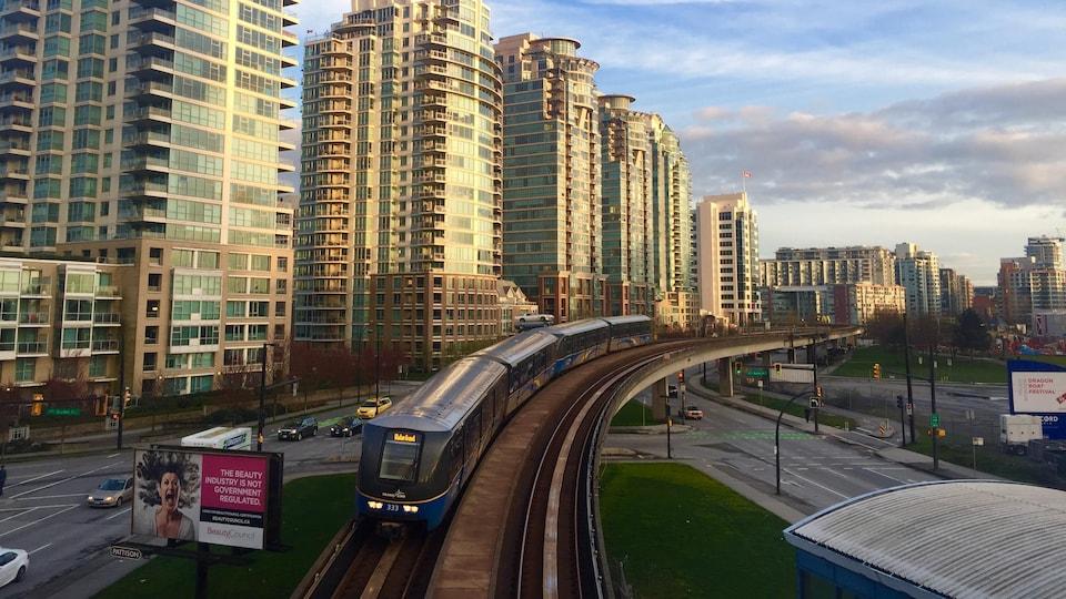 Le Skytrain à Vancouver