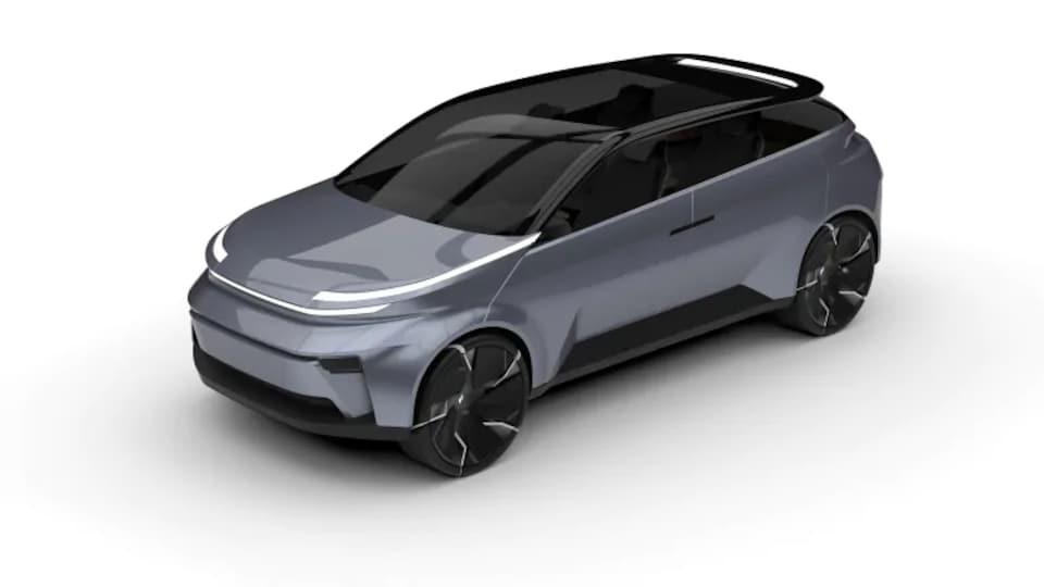 Un véhicule électrique.