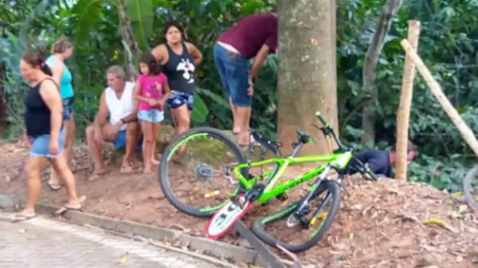 Le cycliste aurait percuté un arbre, après avoir perdu le contrôle de son vélo.