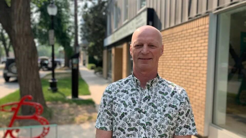 Greg McKee, copropriétaire du magasin Bike Doctor, à Saskatoon.