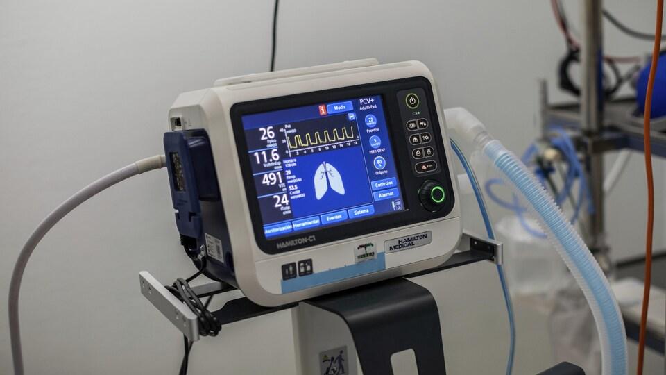 Un ventilateur dans un hôpital de Madrid, en Espagne, le 9 octobre 2020.