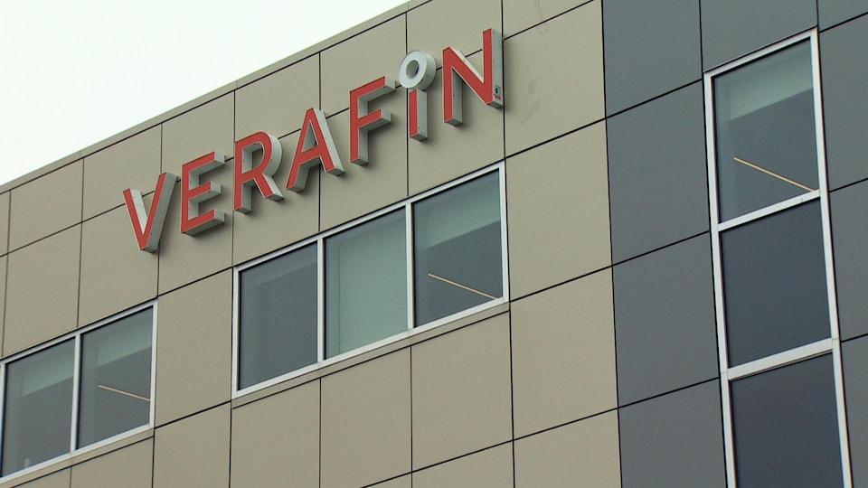 La façade de Verafin, à Saint-Jean.