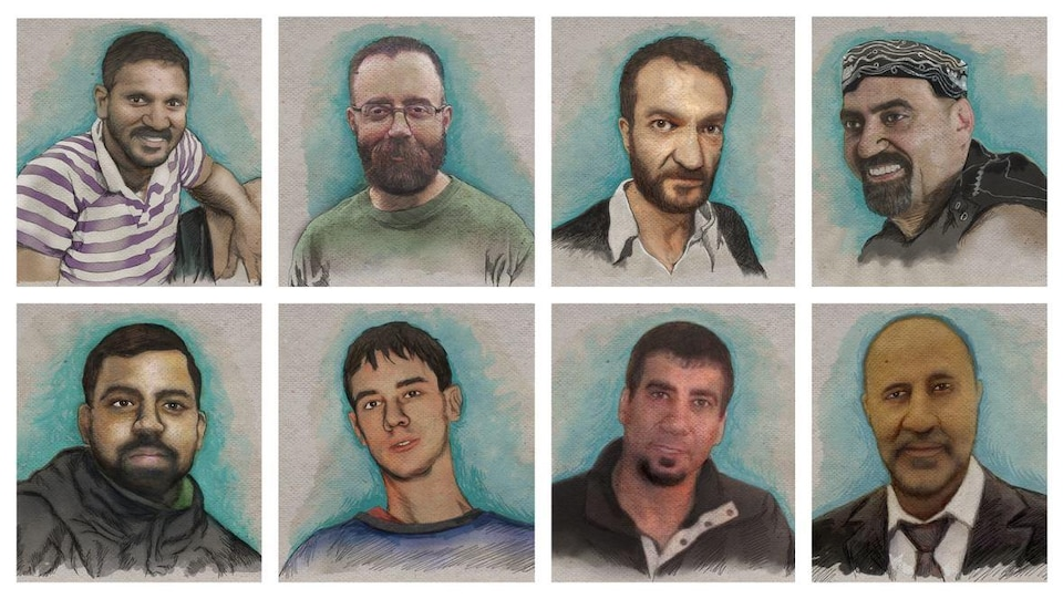 Des sketches de 8 personnes, côte-à-côte