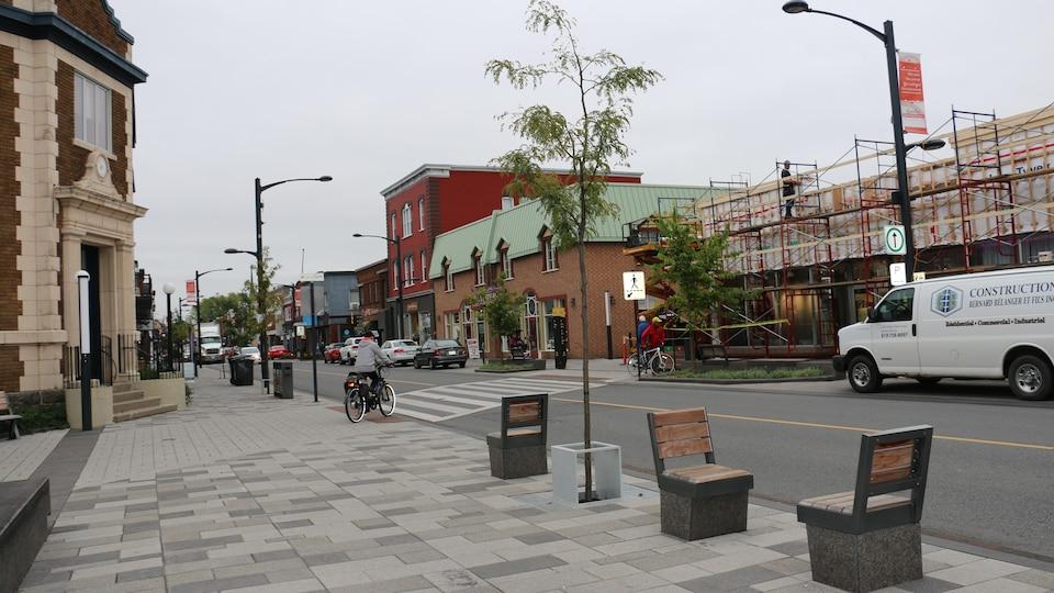Le centre-ville de Victoriaville.