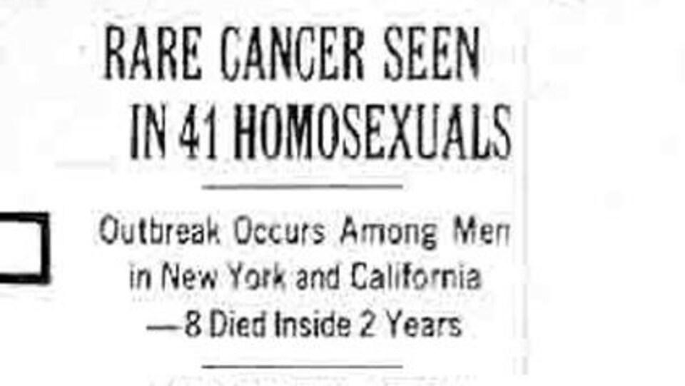 Le « New York Times » publie un premier article concernant le sida, parlant d'un rare cancer diagnostiqué chez 41 homosexuels.