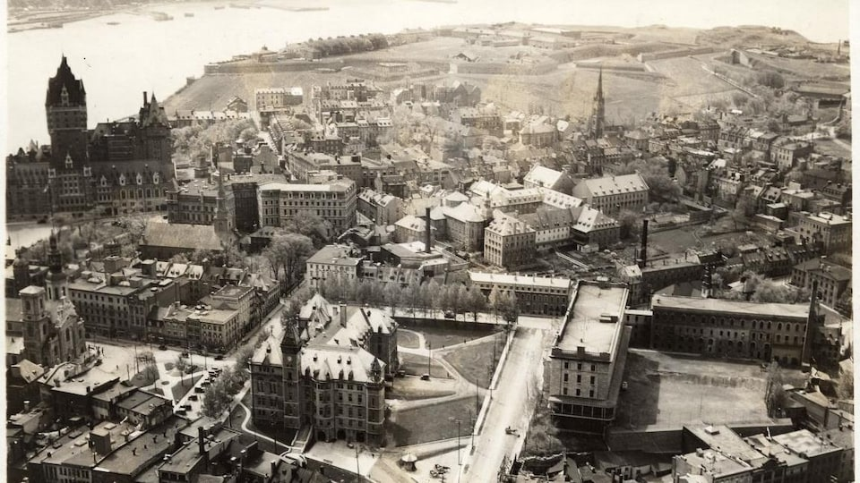 Vue aérienne de la ville de Québec