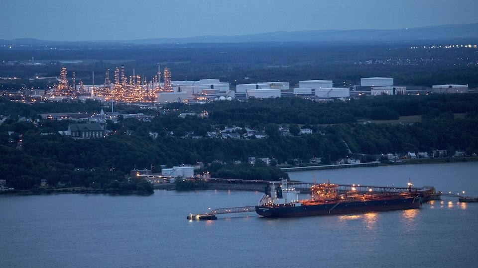 La raffinerie Jean-Gaulin de Québec.