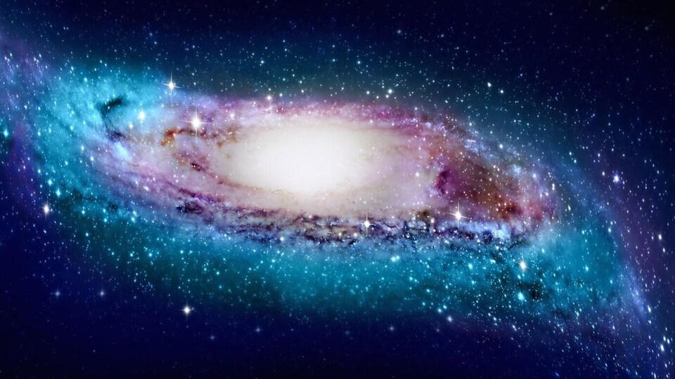 Impression artistique de la forme de la Voie lactée.