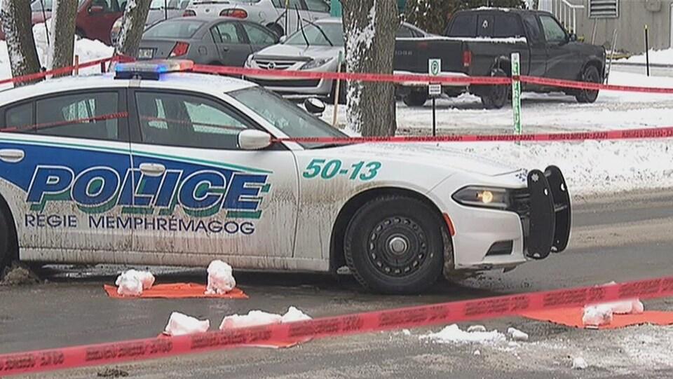Une voiture de la Régie de police Memphrémagog