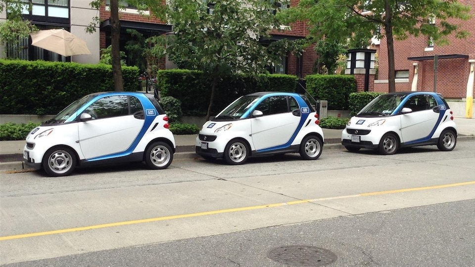 Des voitures Car2Go à Vancouver