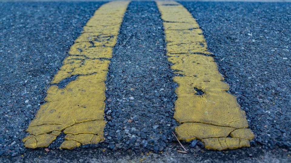 la chaussée routière de l'ile Pelée