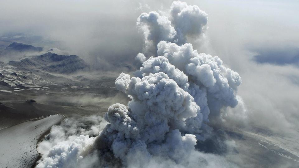 Le volcan Eyjafjallajökull.