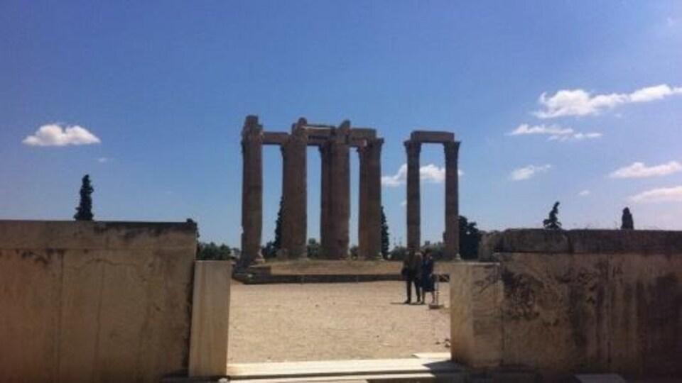 Le temple de Zeus olympien, aussi connu sous le nom d'Olympiéion