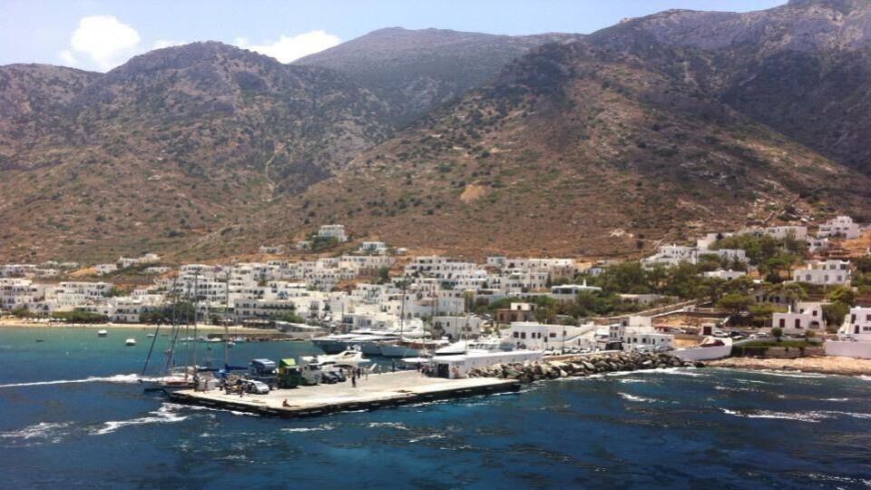 Un village sur une île grecque