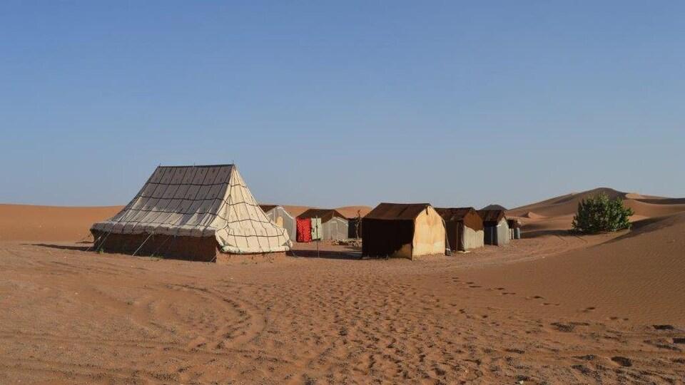 Des bivouacs dans le désert au Maroc