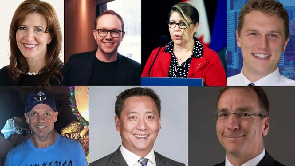 Photos de sept élus albertains.