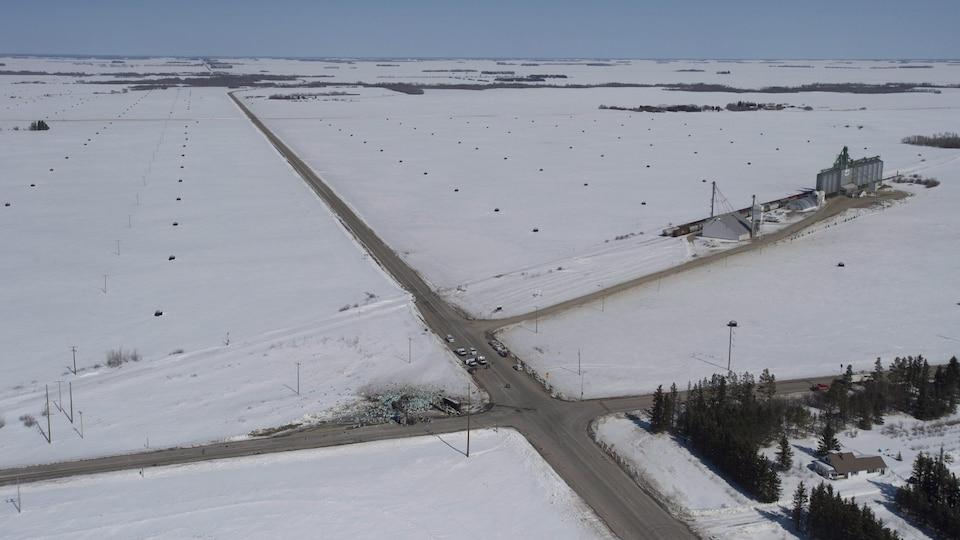 Croisement de l'autoroute 35 et de la route 335