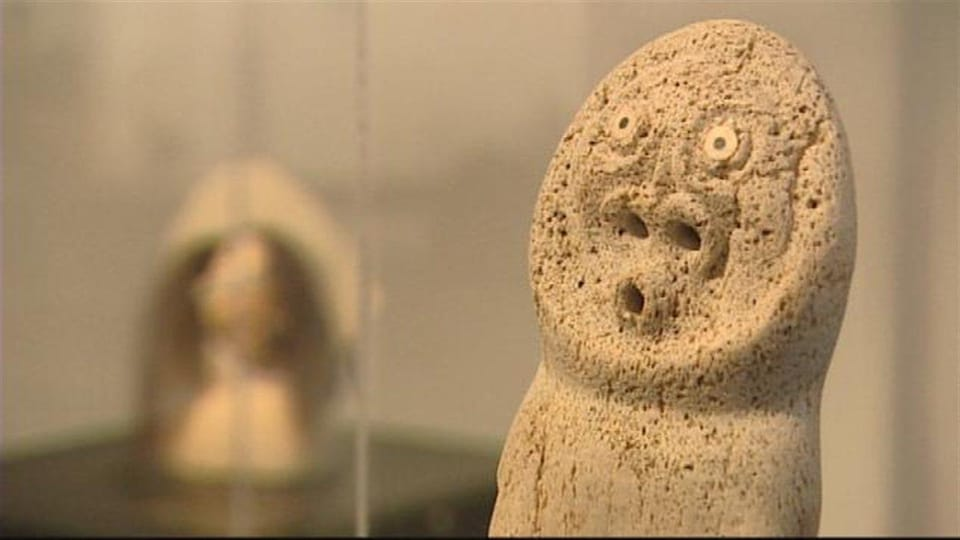 Sculpture autochtone au Musée des beaux-arts de Winnipeg