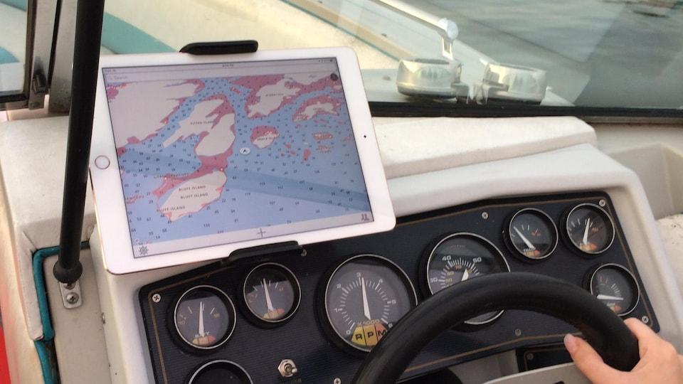 Une application de géolocalisation marine.