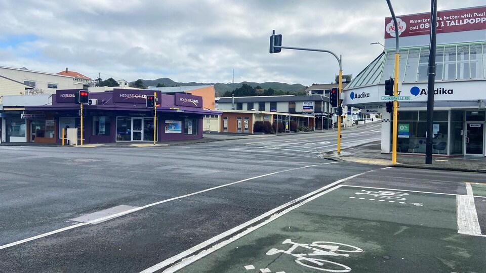 Une rue déserte de Wellington