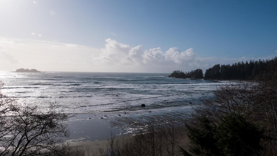 la plage de Wickaninnish Beach au Pacific Rim National Park.