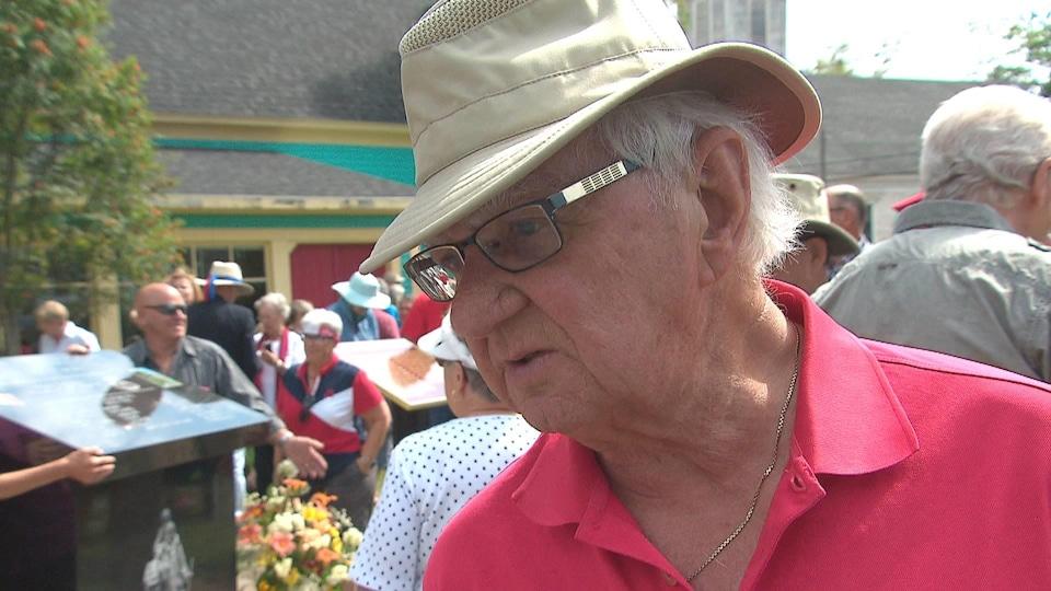 Wilfred Savoie lors du dévoilement du monument à Riverside-Albert le 16 août 2019.