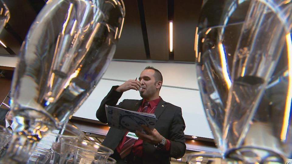 Le surintendant du Service des eaux de la Ville de Saint-Eustache, Yanick Fortier, était l'un des participants.
