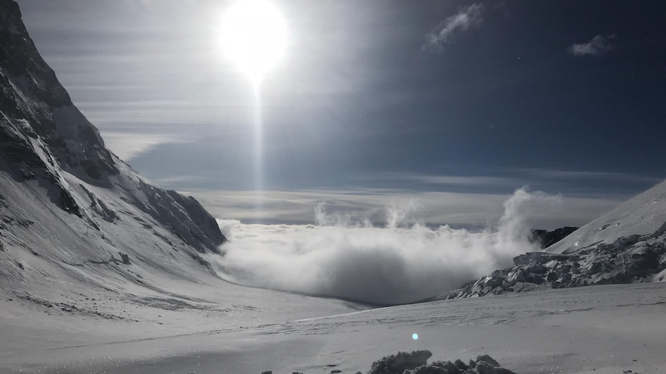 paysage pendant l'ascension