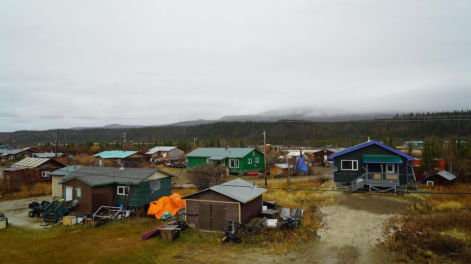Des maisons de la communauté d'Old Crow