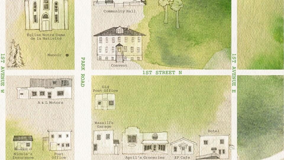Une carte faite-maison de Zenon Park.
