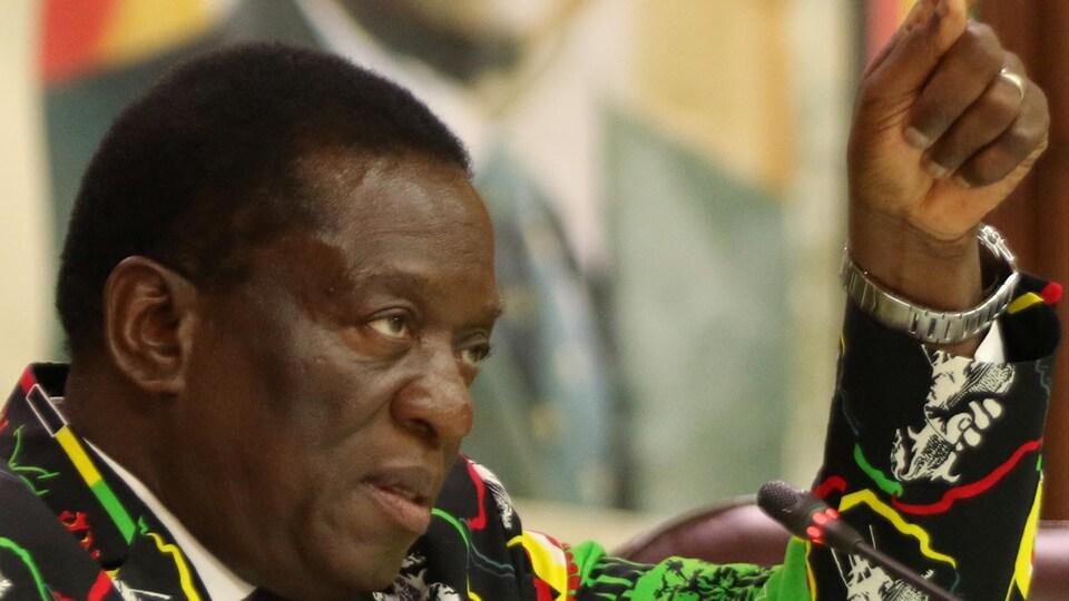 L'ex-vice-président du Zimbabwe, Emmerson Mnangagwa