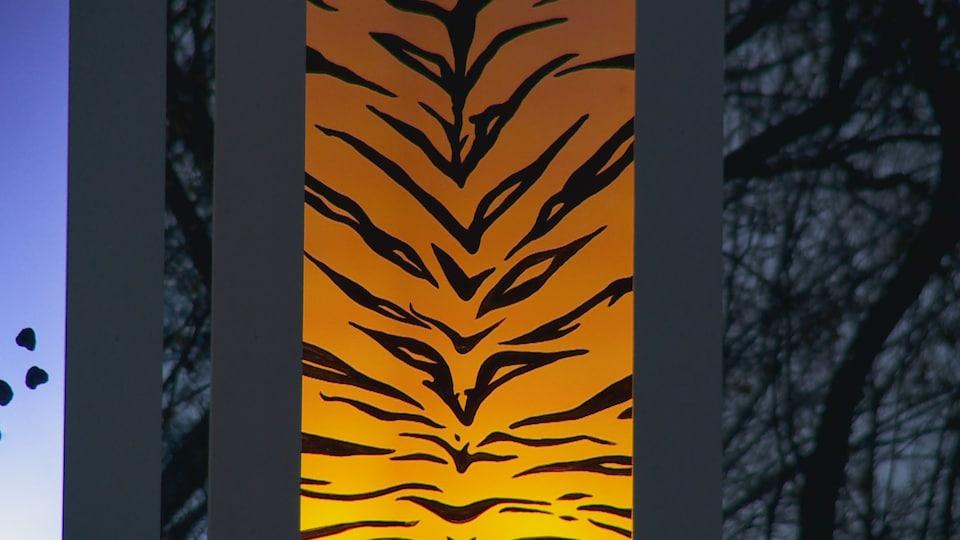 La dernière pièce représente le tigre.