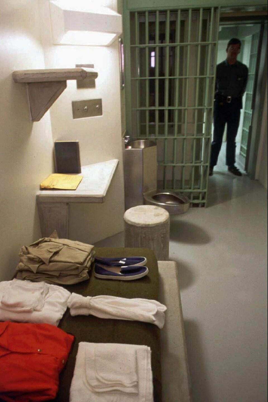 Vue d'une des cellules de la prison de Florence, au Colorado.