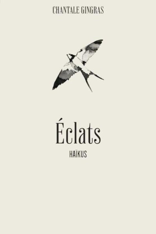 Page couverture du recueil. Une hirondelle vole les ailes déployées.