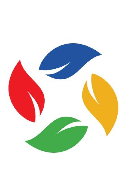 Logo de quatre feuilles colorées de l'École publique aux Quatre-Vents