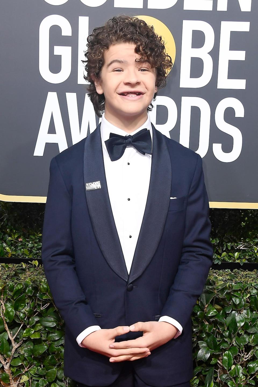 L'acteur Gaten Matarazzo sur le tapis rouge des Golden Globes 2018