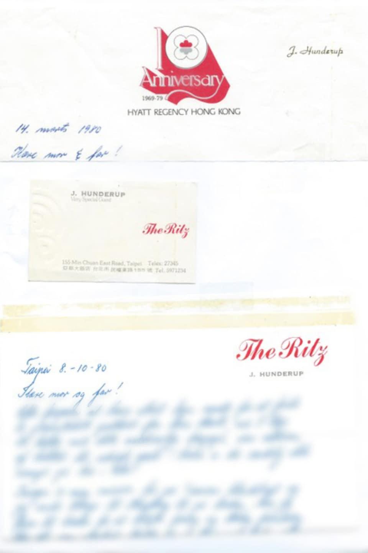 Deux lettres manuscrites sur papier à en-tête dont le contenu est floué.