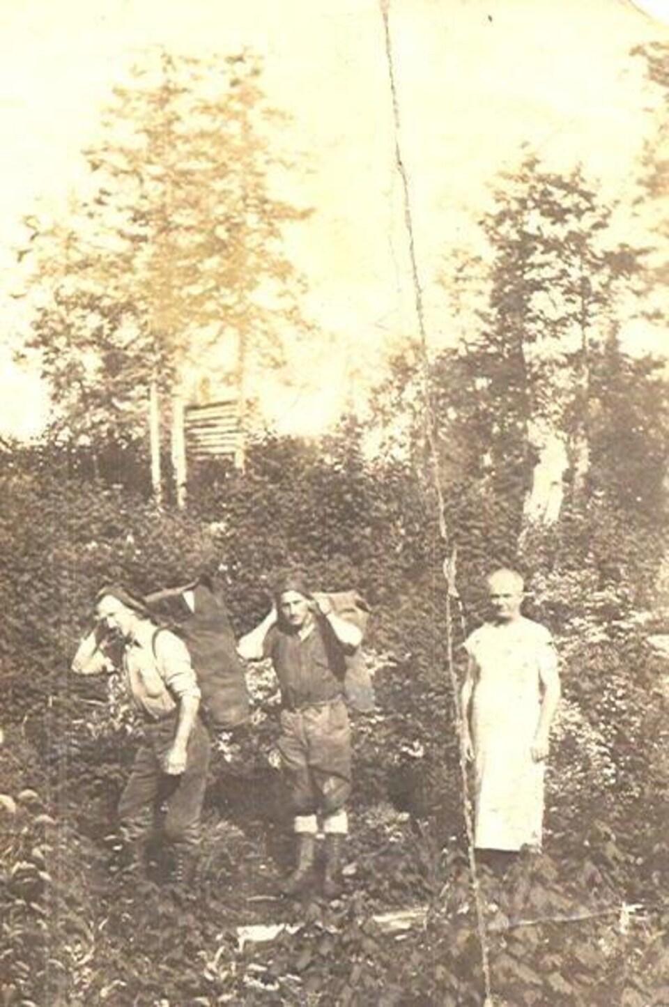 Des prospecteurs à l'époque de la ruée vers de l'or de Noranda