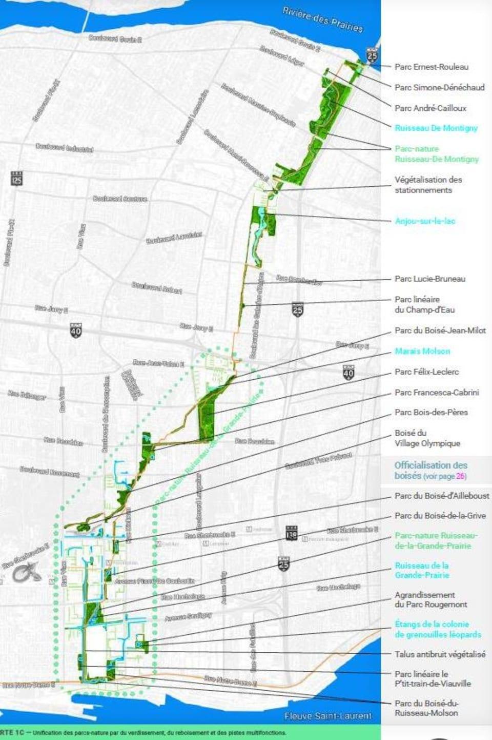 Carte illustrant le projet.