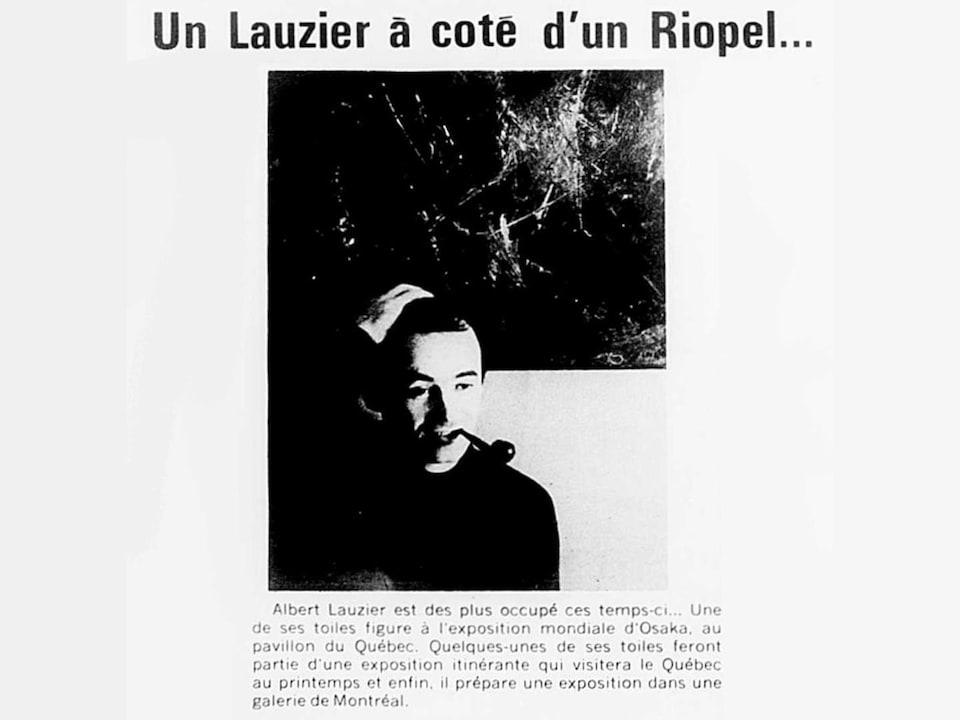 Coupure de journal titrée : Un Lauzier à côté d'un Riopel.
